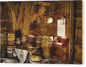 The Fort Nisqually Granary Wood Print by David Patterson