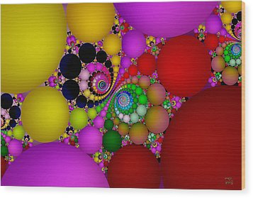 Wood Print featuring the digital art The Fractal Landscape Of Consciousness II by Manny Lorenzo