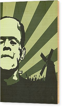 The Frankenstein's Monsters Wood Print by Dave Drake