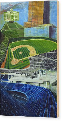 The Friendly Confines Wood Print by Chris Ripley