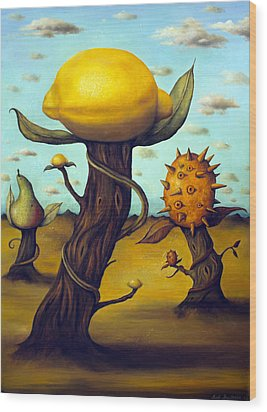 The Fruit Orchard Wood Print by Leah Saulnier The Painting Maniac