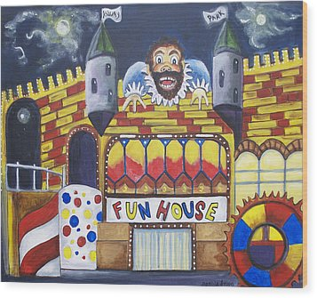 The Funhouse Castle Wood Print by Patricia Arroyo