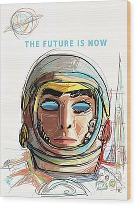 The Future Is Now Wood Print by Russell Pierce
