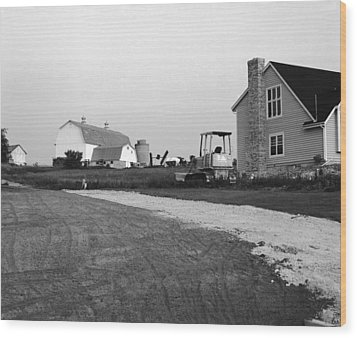 The Future Of Farms Near Chicago Wood Print by Jan W Faul