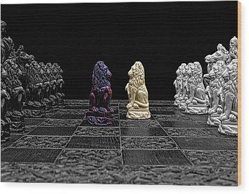 The Game Begins Wood Print by Doug Long