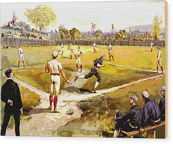 The Game Wood Print by Charles Shoup
