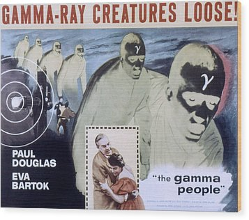 The Gamma People, Paul Douglas, Eva Wood Print by Everett