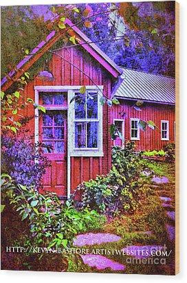 The Garden Path Wood Print by Kevyn Bashore