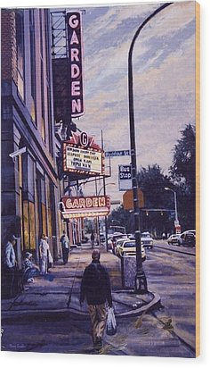 The Garden Theater Wood Print