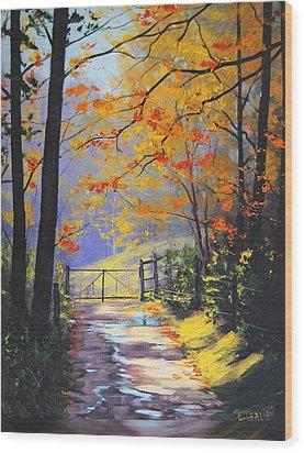 The Gate Wood Print by Graham Gercken