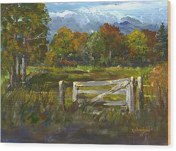 The Gate Of The Lord Wood Print by George Richardson