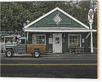 The General Store Wood Print by Don Lovett