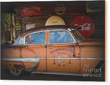 The Getaway Driver Wood Print by Benanne Stiens