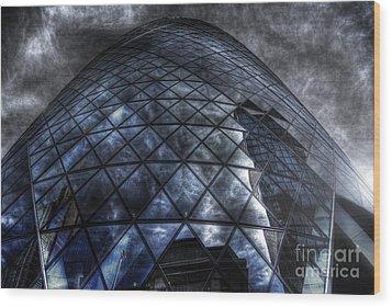 The Gherkin - Neckbreaker View Wood Print by Yhun Suarez