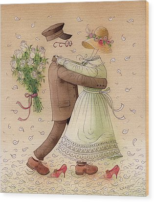 The Ghost Dance Wood Print by Kestutis Kasparavicius