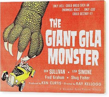The Giant Gila Monster, Half-sheet Wood Print by Everett