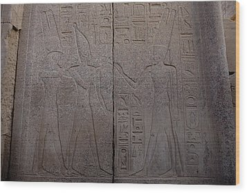 The Gods Horus And Amun Are Represented Wood Print by Taylor S. Kennedy