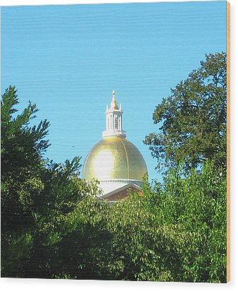 Wood Print featuring the photograph The Gold Dome by Bruce Carpenter