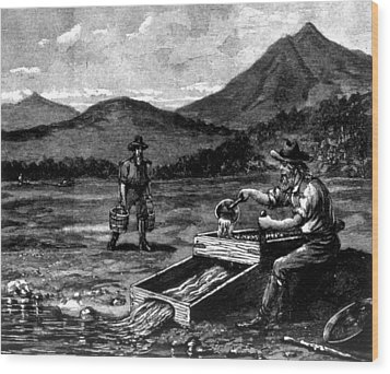 The Gold Rush, Prospector Using Wood Print by Everett