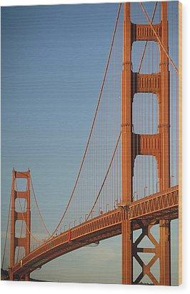 The Golden Gate Bridge At Dawn Wood Print by Axiom Photographic