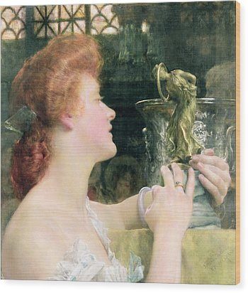 The Golden Hour Wood Print by Sir Lawrence Alma-Tadema