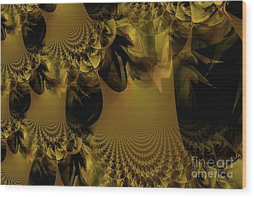The Golden Mascarade Wood Print by Maria Urso