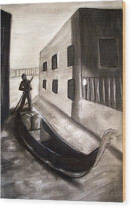 The Gondola Wood Print by C Nick