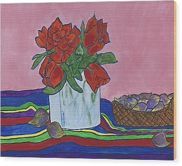 The Good Figs Wood Print by Maureen Ritzel