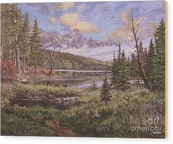 The Gore Range Wood Print by W  Scott Fenton