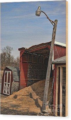 The Grain Barn Wood Print by Paul Ward