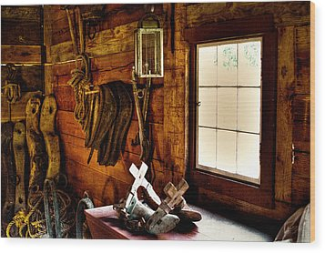 The Granary At Fort Nisqually Wood Print by David Patterson