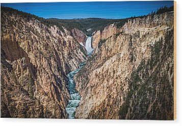 The Grand Canyon Of Yellowstone Wood Print by Brad Boserup