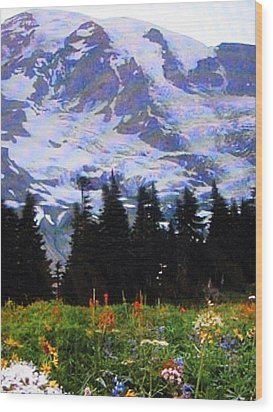 Wood Print featuring the photograph The Grand Tetons In Jackson  by Shawn Hughes