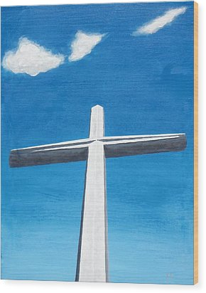 The Great Cross - Risen Wood Print by Kelvin Kelley