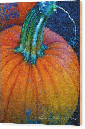 The Great Pumpkin Wood Print by Glenna McRae