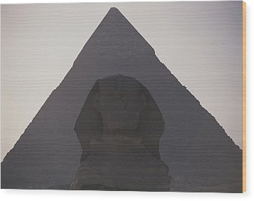 The Great Sphinx Is Framed Wood Print by Stephen St. John