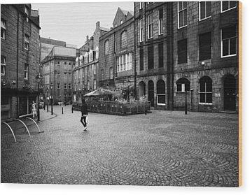 The Green Aberdeen Old Town City Centre Scotland Uk Wood Print by Joe Fox