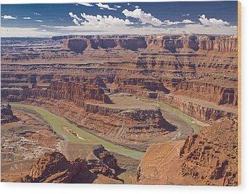 The Green-hued Colorado River Running Wood Print by Mike Theiss