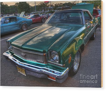 The Green Machine - Chevrolet Chevelle  Wood Print by Lee Dos Santos
