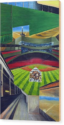 The Green Monster Wood Print by Chris Ripley