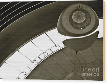 The Greenwich Observatory Ball Wood Print by Micah May