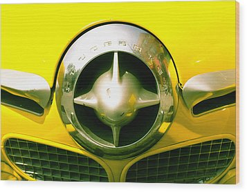 The Grill Of A Yellow Studebaker Car Wood Print by David DuChemin