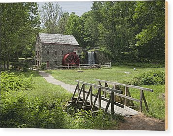 The Grist Mill Wood Print by Lee Fortier