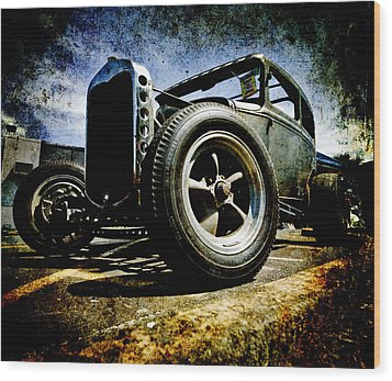 The Grunge Rod Wood Print by Phil 'motography' Clark