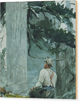 The Guide Wood Print by Winslow Homer