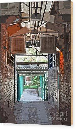 The Hallway Wood Print by Gwyn Newcombe