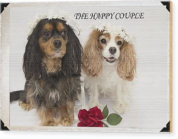 The Happy Couple Wood Print by Daphne Sampson