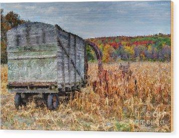 The Harvester Wood Print by Michael Garyet