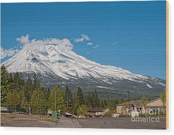 The Heart Of Mount Shasta Wood Print