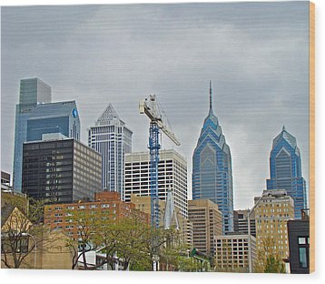 The Heart Of The City - Philadelphia Pennsylvania Wood Print by Mother Nature